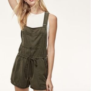 Army Green relaxed overall romper